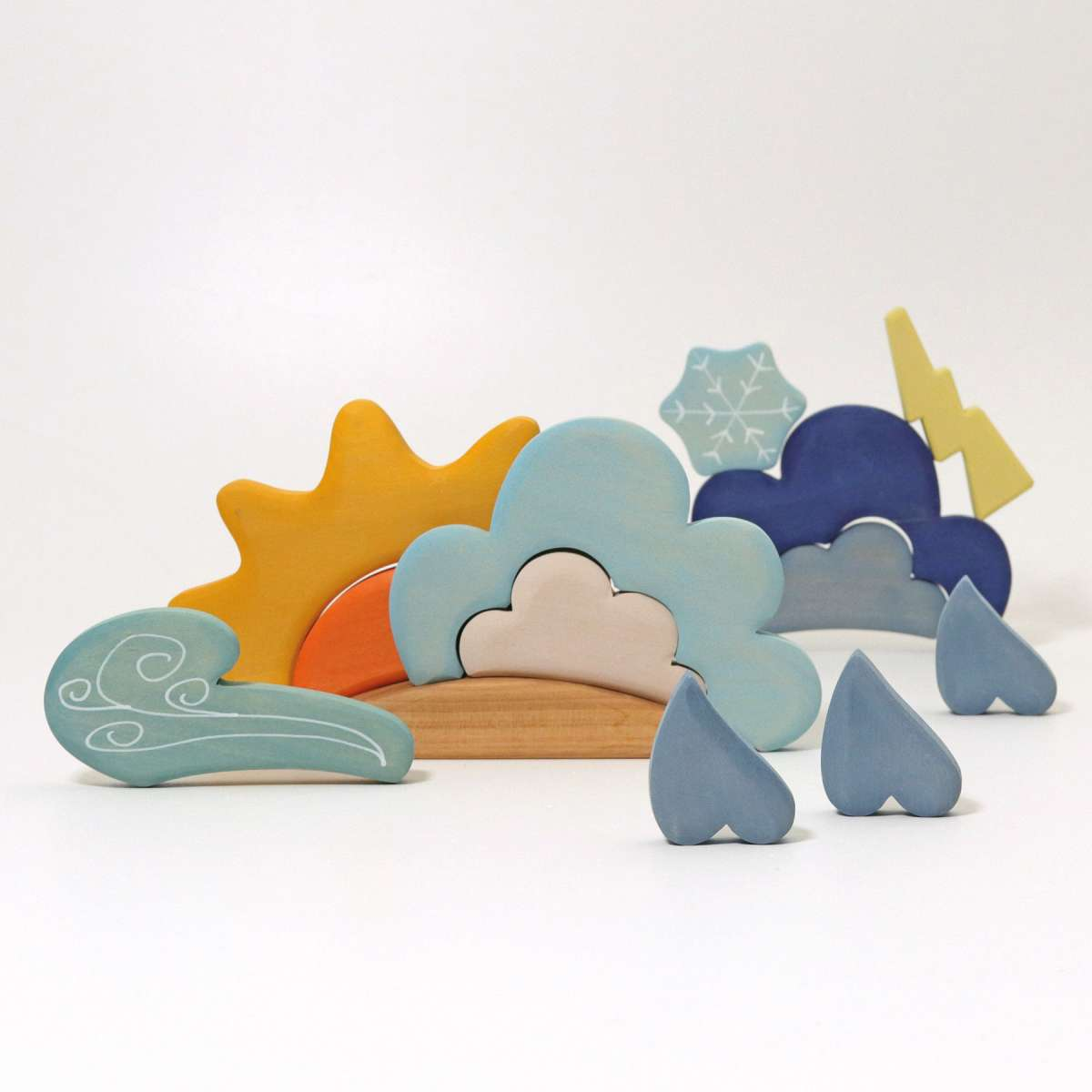 Grimms Building Set Weather Grimms Wooden Toys at Little Earth Nest Eco Shop