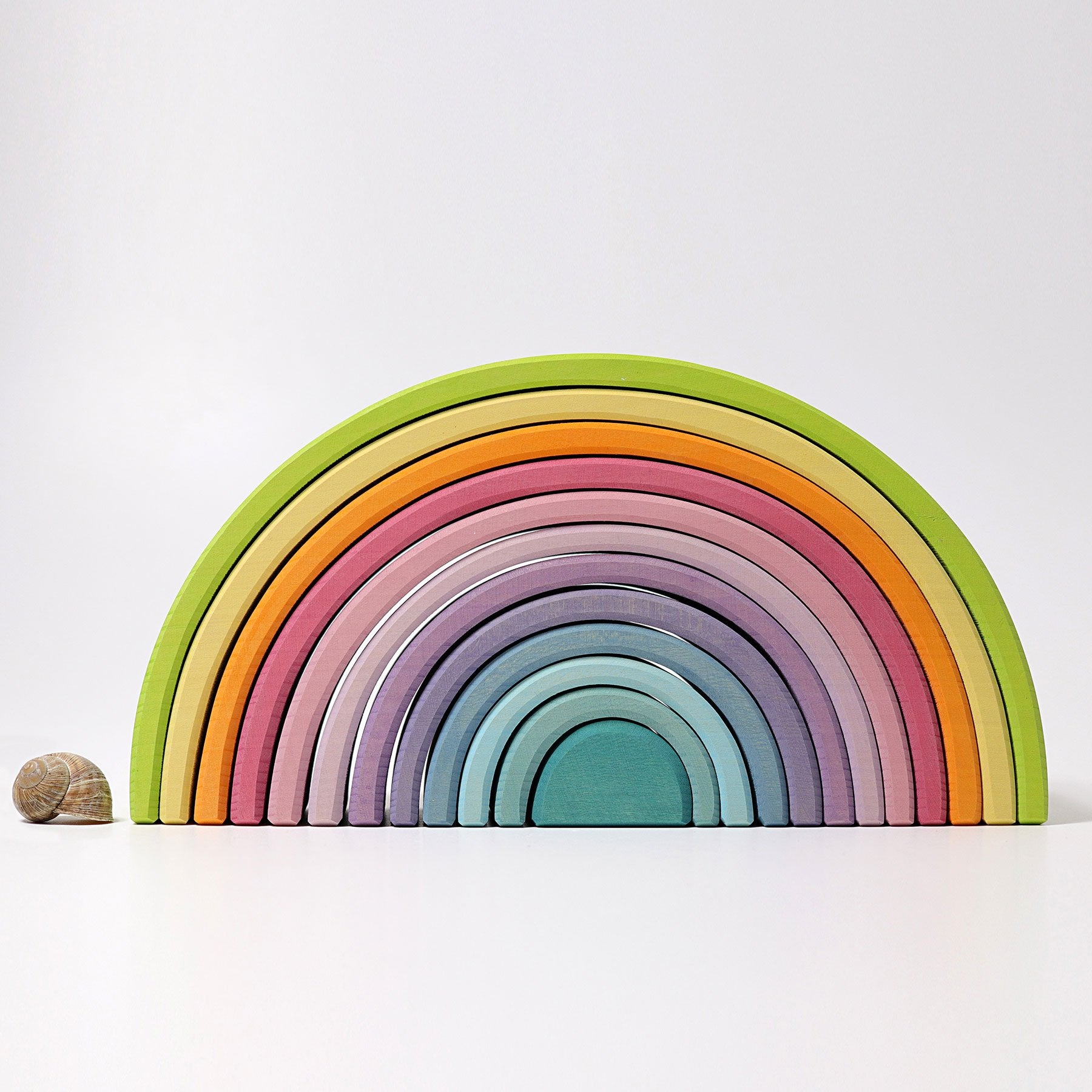 Grimms Rainbow Grimms Toys L / Pastel at Little Earth Nest Eco Shop