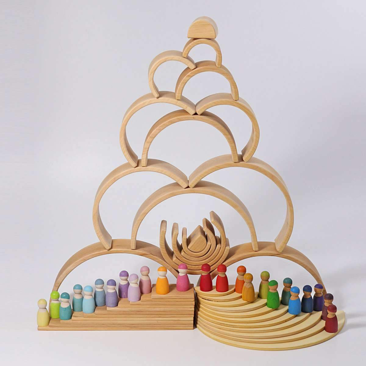 Grimms Natural Wooden Rainbow Grimms Wooden Blocks at Little Earth Nest Eco Shop