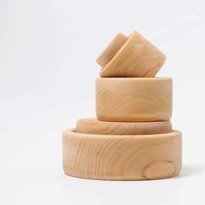 Grimms Natural Bowls Set of 5 Grimms Toys at Little Earth Nest Eco Shop