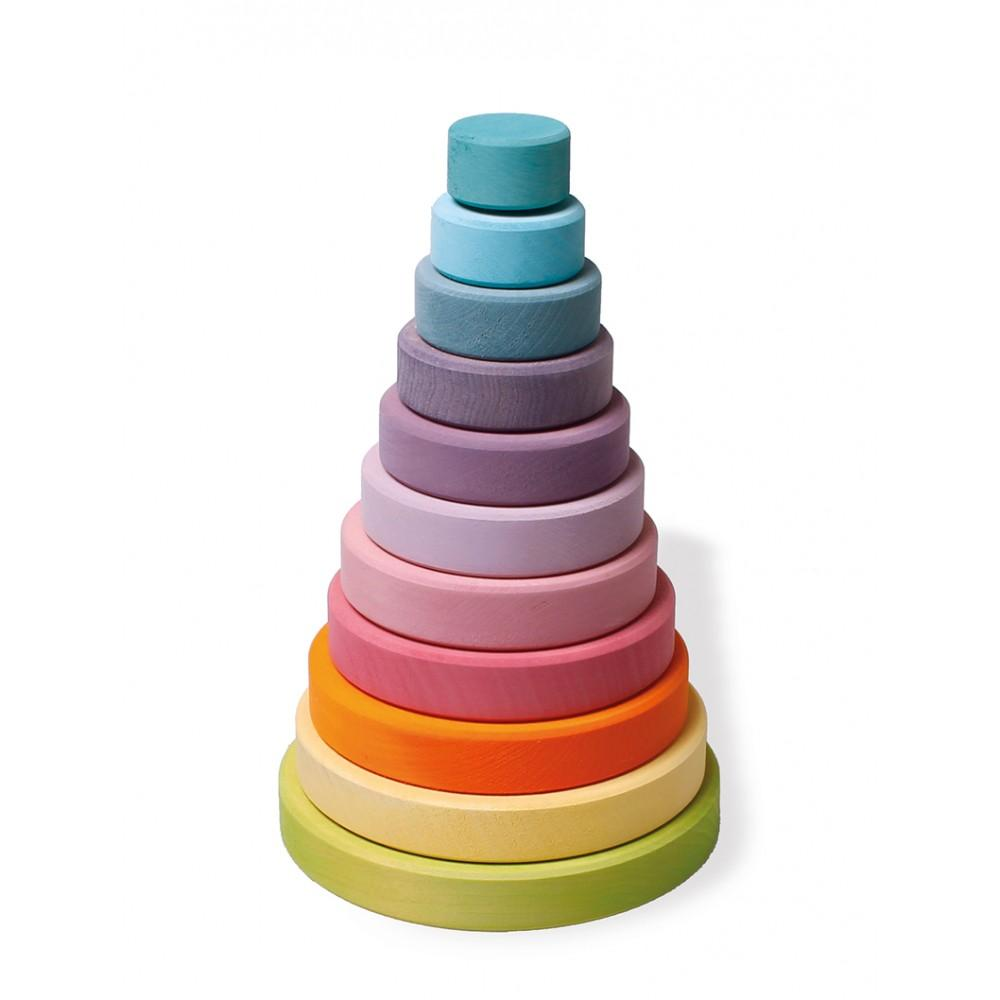 Grimms Pastel Stacking Tower Grimms Wooden Blocks at Little Earth Nest Eco Shop