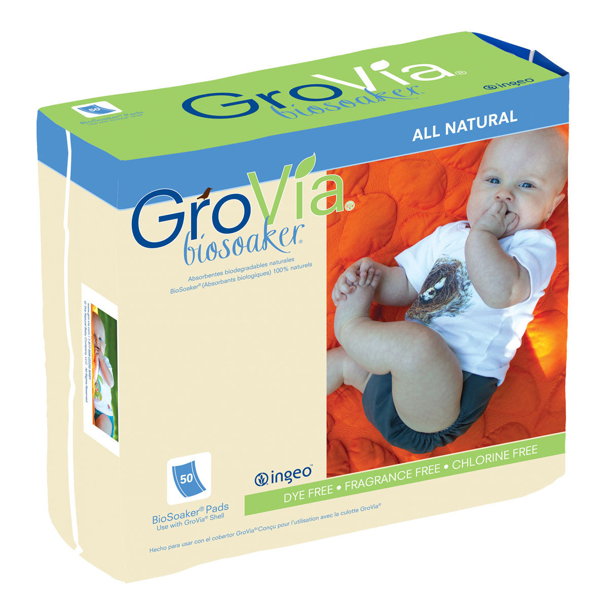 Grovia Biosoakers Grovia Australia Nappies 100 Pack at Little Earth Nest Eco Shop