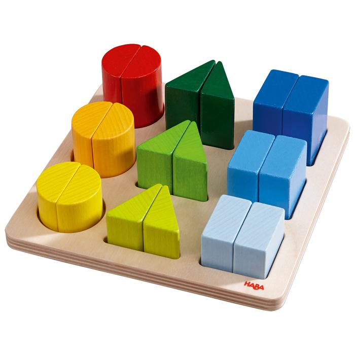 Haba Rainbow Shapes Puzzle Little Earth Nest at Little Earth Nest Eco Shop