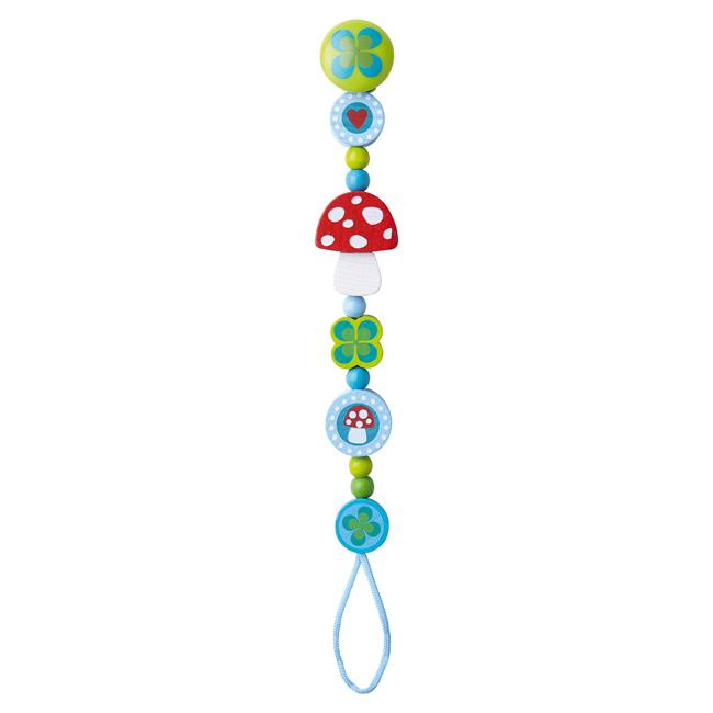 Haba Dummy Chain Haba Dummies and Teethers Lucky Charm at Little Earth Nest Eco Shop