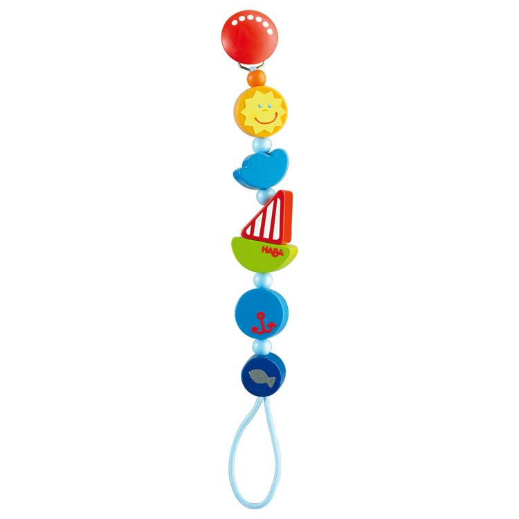 Haba Dummy Chain Haba Dummies and Teethers Ship Ahoy at Little Earth Nest Eco Shop