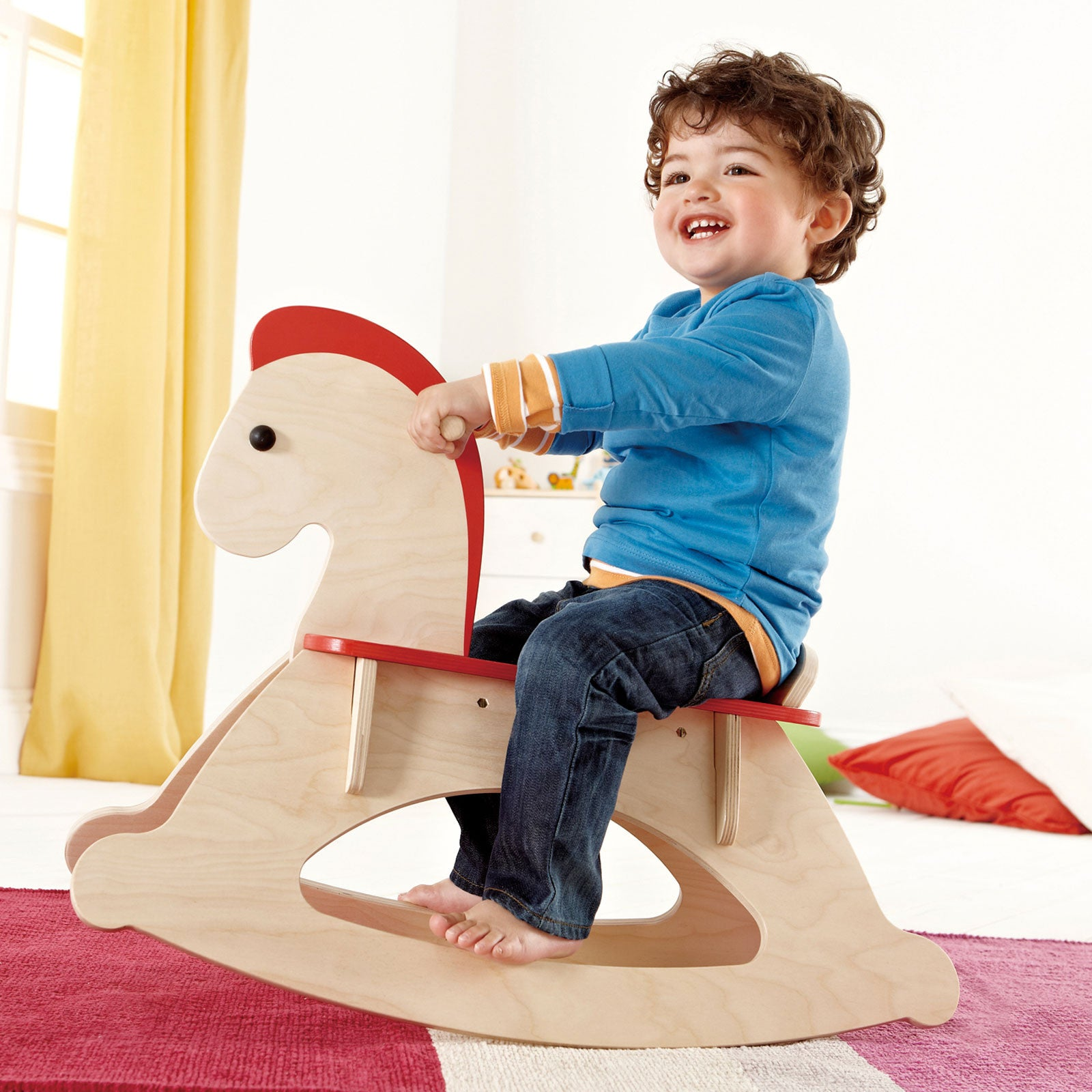 Hape Grow With Me Wooden Rocking Horse Hape Kids Riding Vehicles at Little Earth Nest Eco Shop
