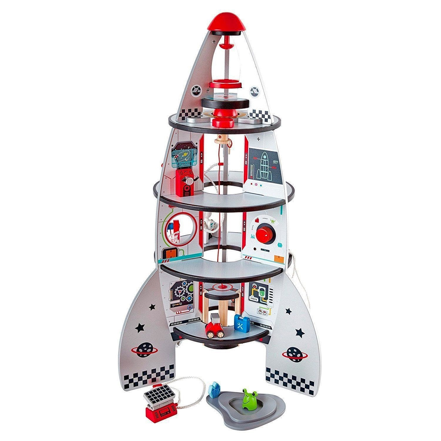 Hape Space Rocket and Discovery Centre Hape Activity Toys at Little Earth Nest Eco Shop