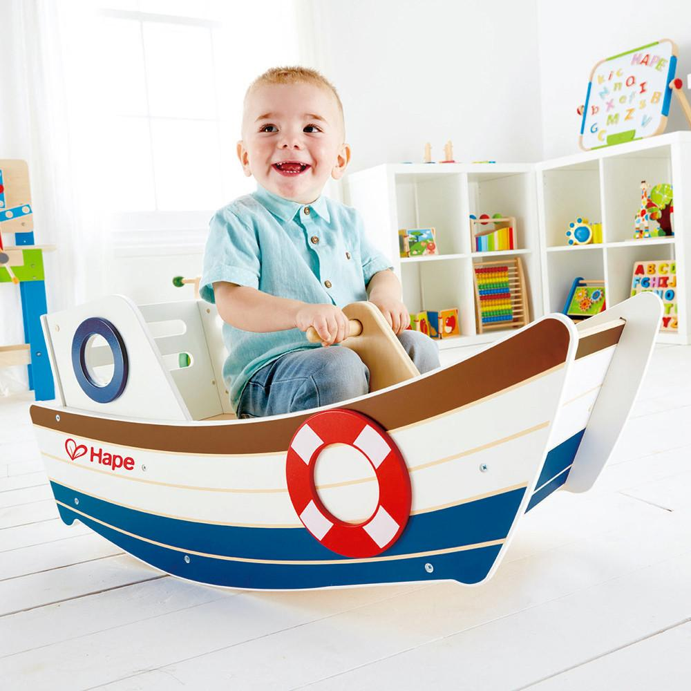 Hape Rocking Boat Hape Kids Riding Vehicles at Little Earth Nest Eco Shop