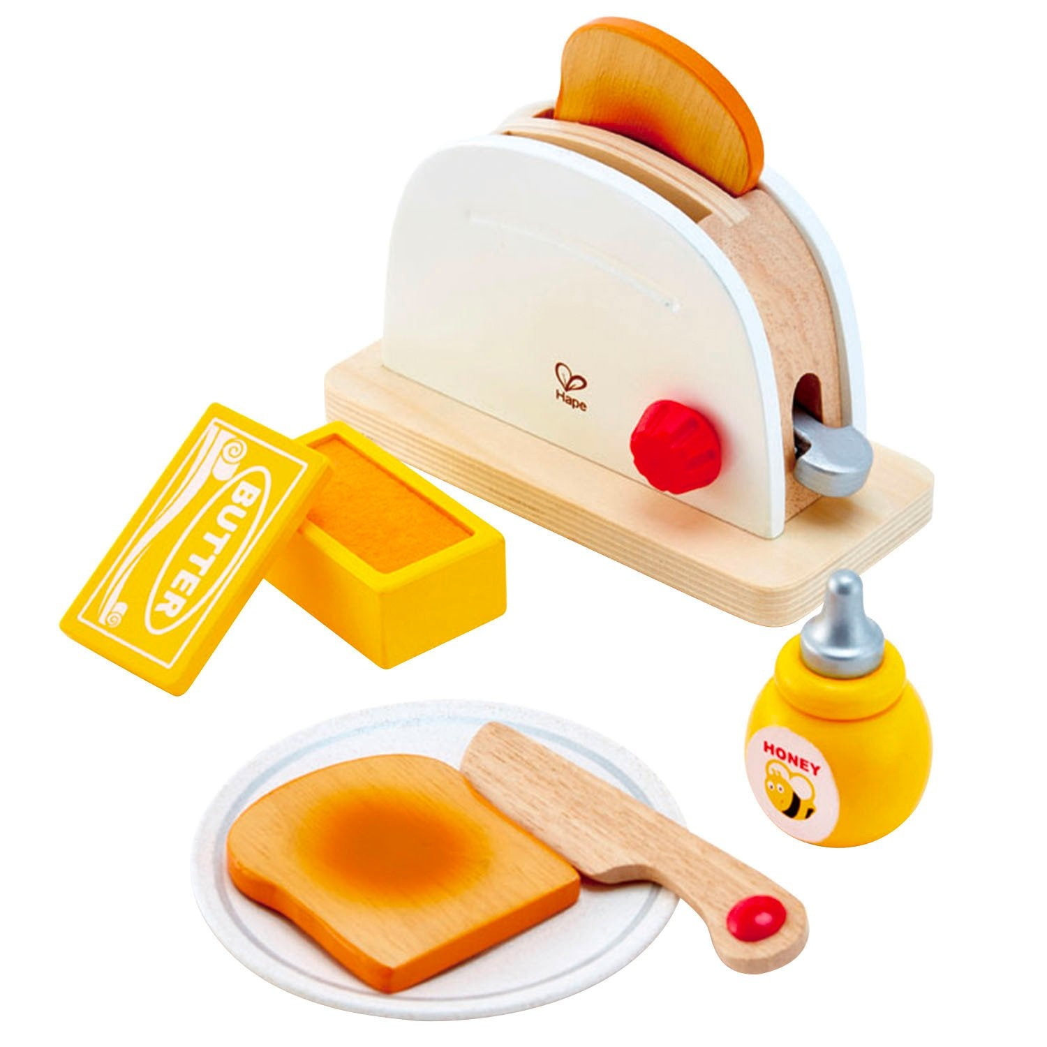 Hape Pop Up Toaster Set Hape Pretend Play at Little Earth Nest Eco Shop