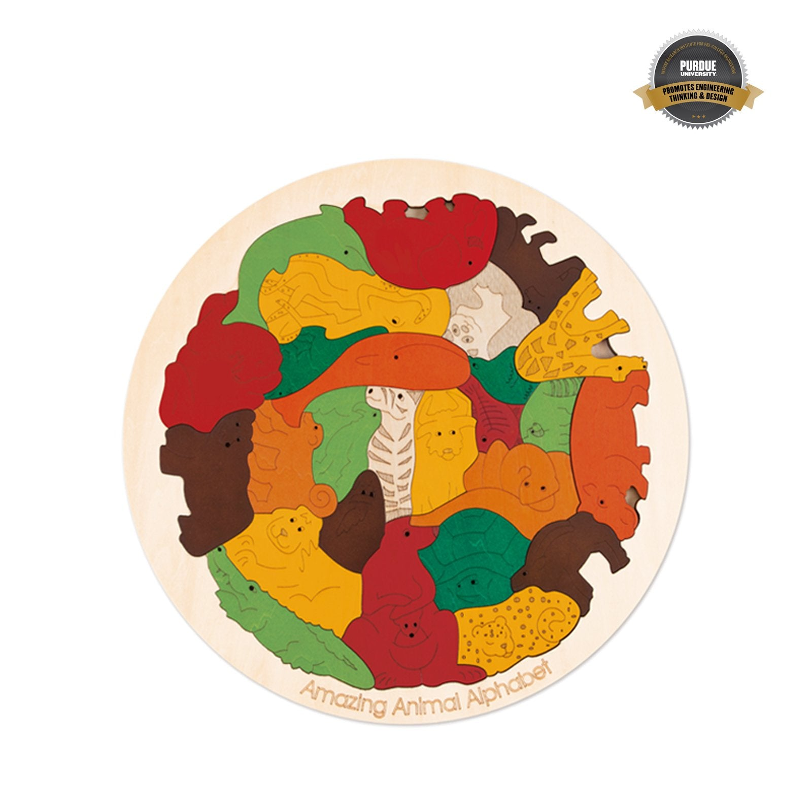 Hape Amazing Animal Alphabet Puzzle Hape Puzzles at Little Earth Nest Eco Shop
