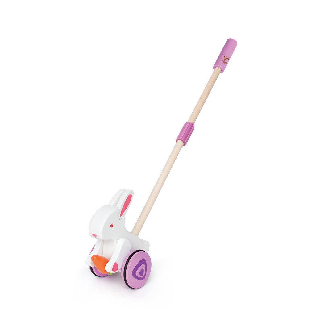 Hape Push Pal Hape Push and Pull Toys Bunny at Little Earth Nest Eco Shop
