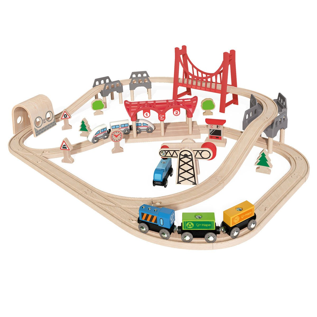 Hape Double Loop Train Set   - Hape - Little Earth Nest