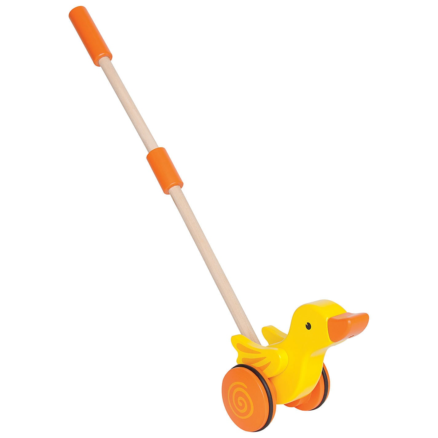 Hape Push Pal Hape Push and Pull Toys Duck at Little Earth Nest Eco Shop