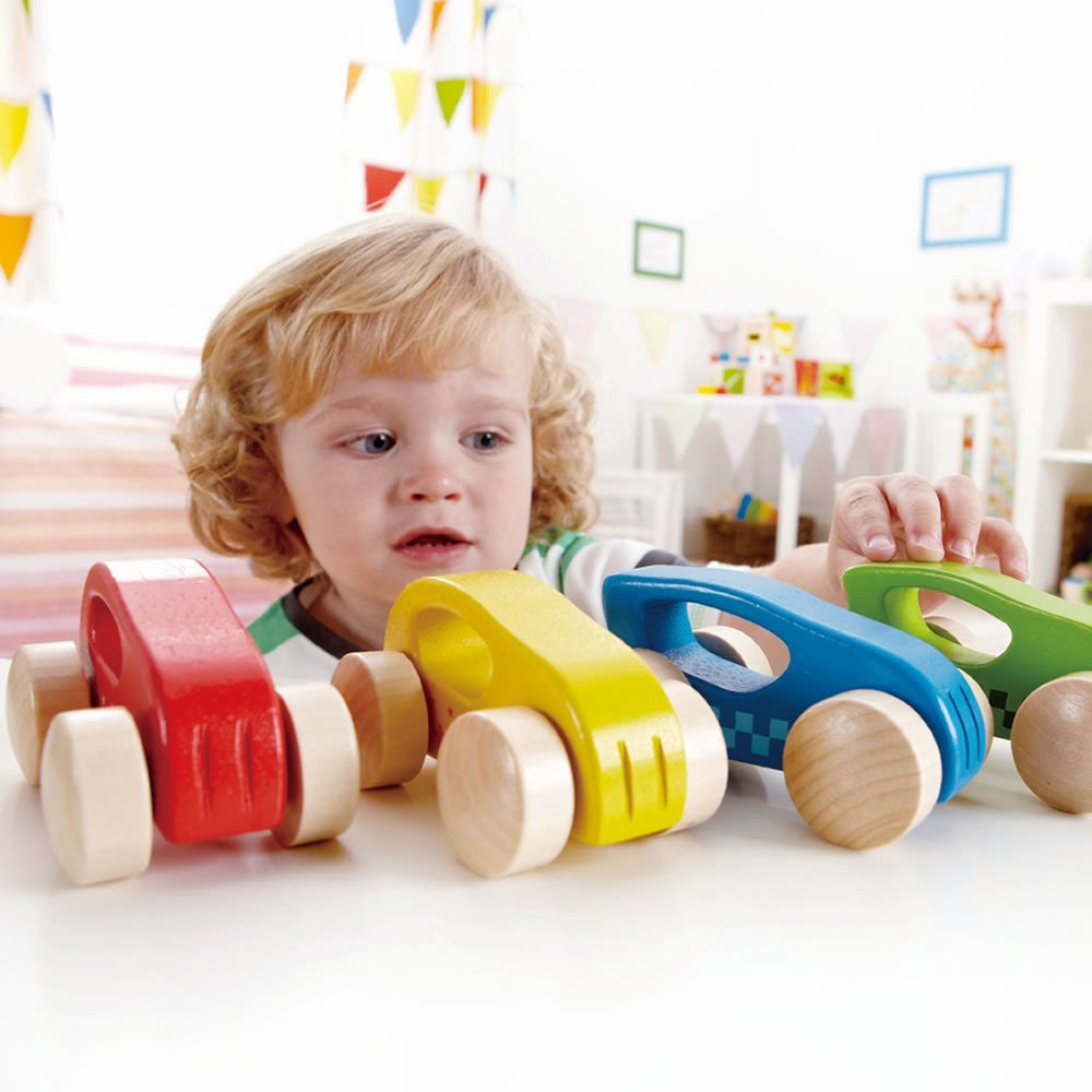 Hape Little Auto Wooden Cars Hape Play Vehicles at Little Earth Nest Eco Shop
