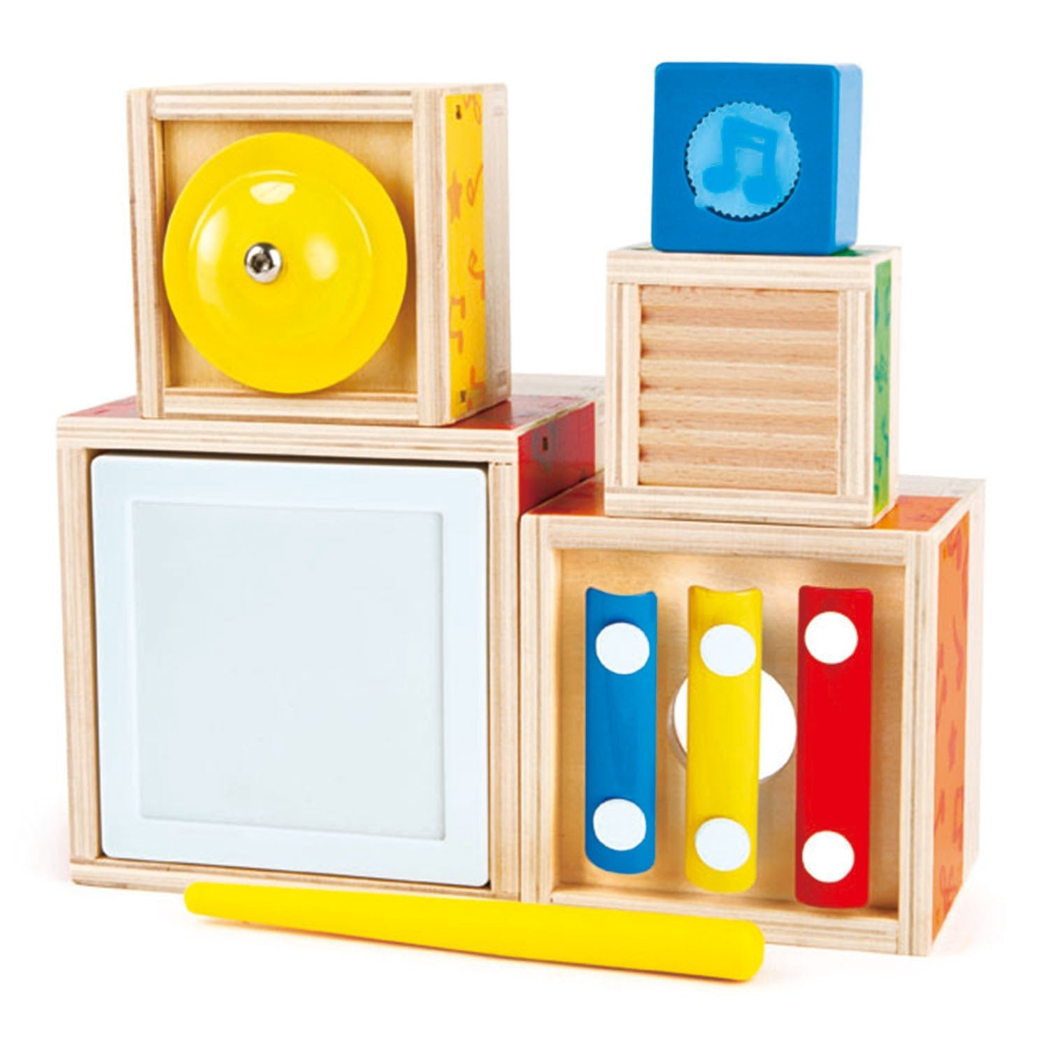 Hape Multi Music Stacking Set Hape Musical Toys at Little Earth Nest Eco Shop