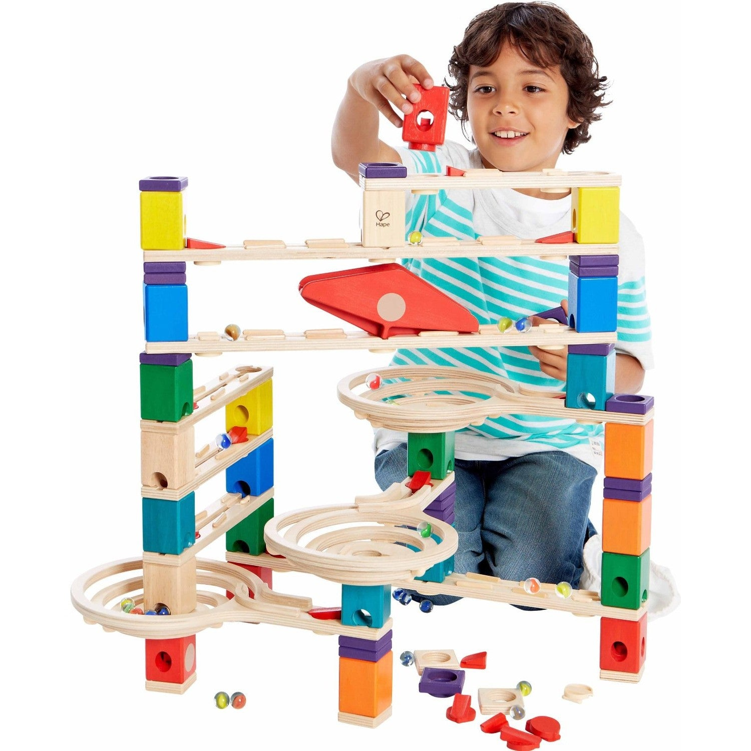 Hape Quadrilla Vertigo Marble Run Hape Activity Toys at Little Earth Nest Eco Shop
