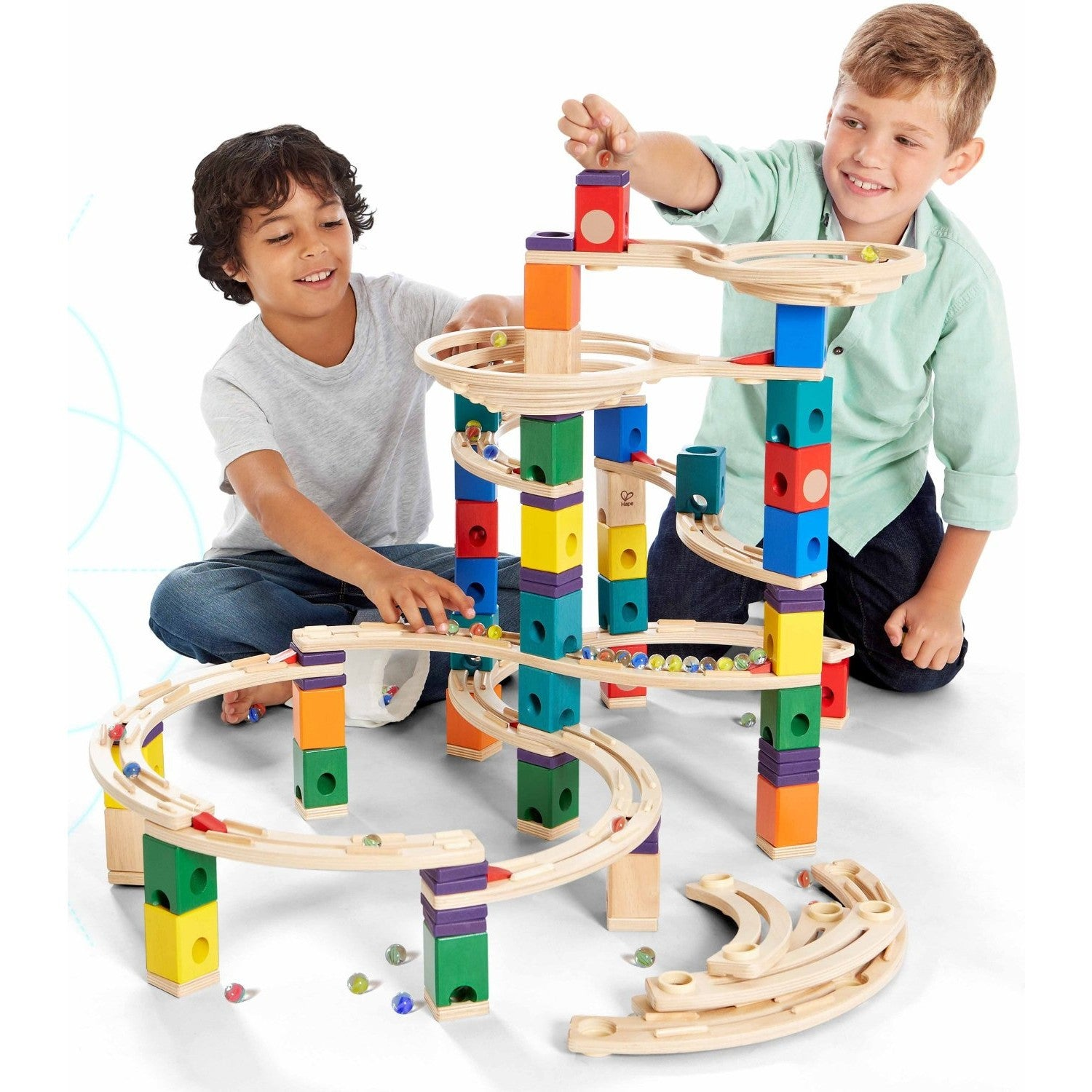 Hape Quadrilla The Cyclone Marble Run Hape Activity Toys at Little Earth Nest Eco Shop