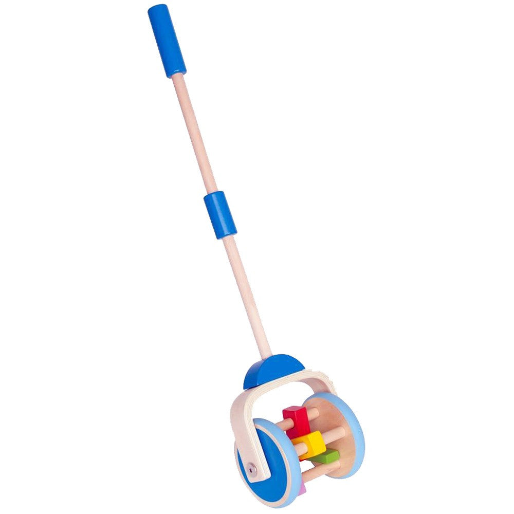 Hape Push Pal Hape Push and Pull Toys Lawnmower at Little Earth Nest Eco Shop