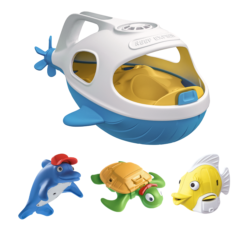 Happy Planet Toys Reef Express Bath Set Happy Planet Toys Bath Toys at Little Earth Nest Eco Shop