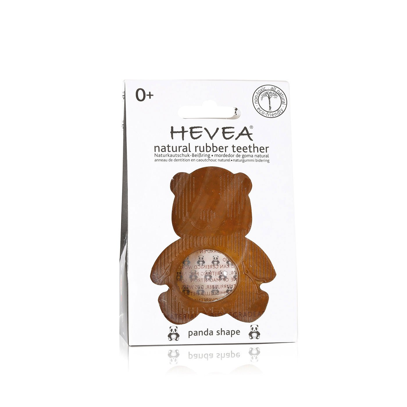 Hevea Natural Rubber Panda Teether   - Hevea Baby - Little Earth Nest - 2