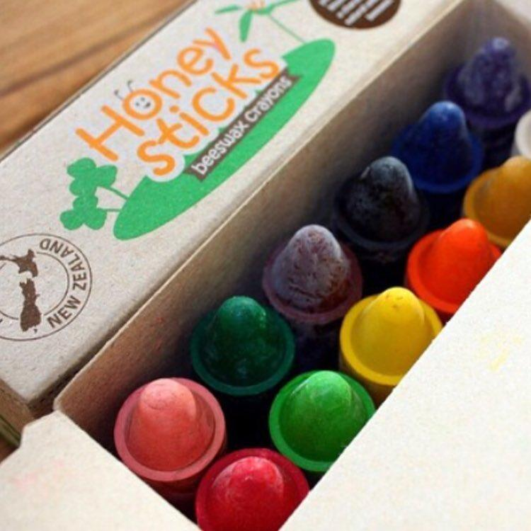 Honeysticks Beeswax Crayons Set Honeysticks Crayons at Little Earth Nest Eco Shop