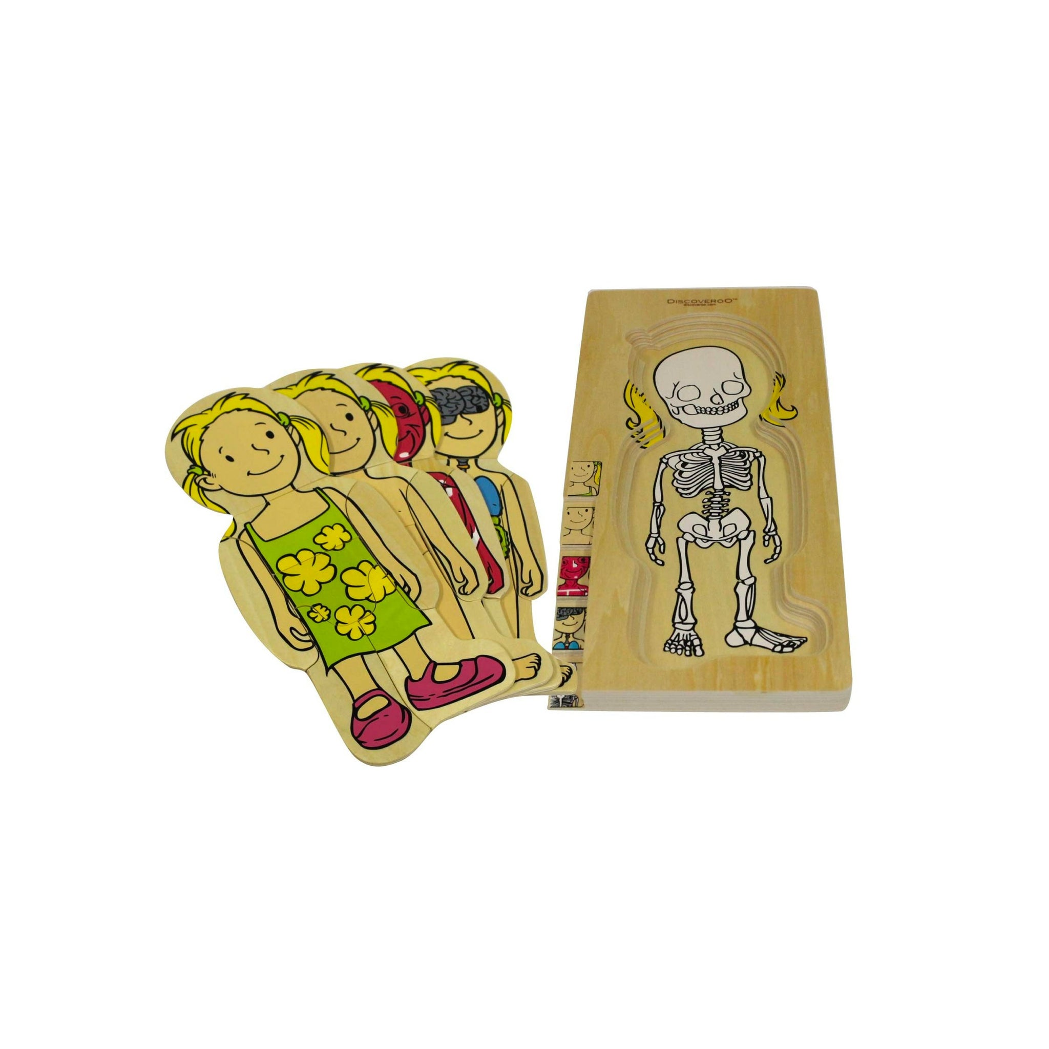 Wooden Human Body Puzzle Discoveroo General Dress at Little Earth Nest Eco Shop