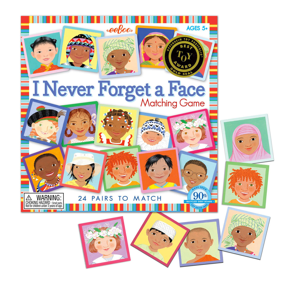 I Never Forget A Face Game Eeboo Games at Little Earth Nest Eco Shop