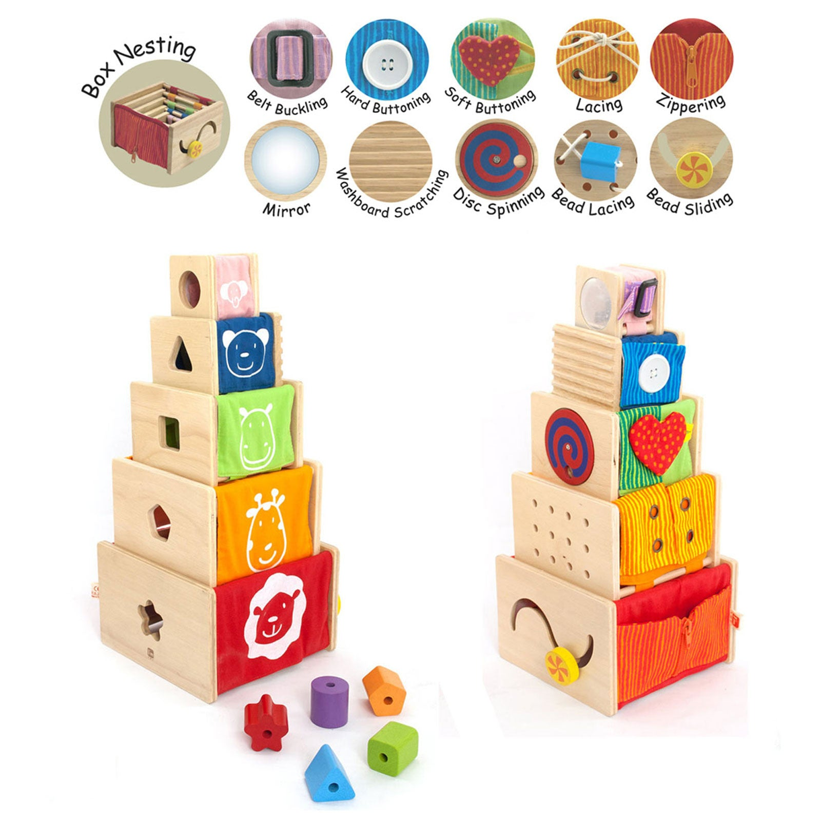 I'm Toy Wooden Activity Stacker Toy   - Im Toy - Little Earth Nest