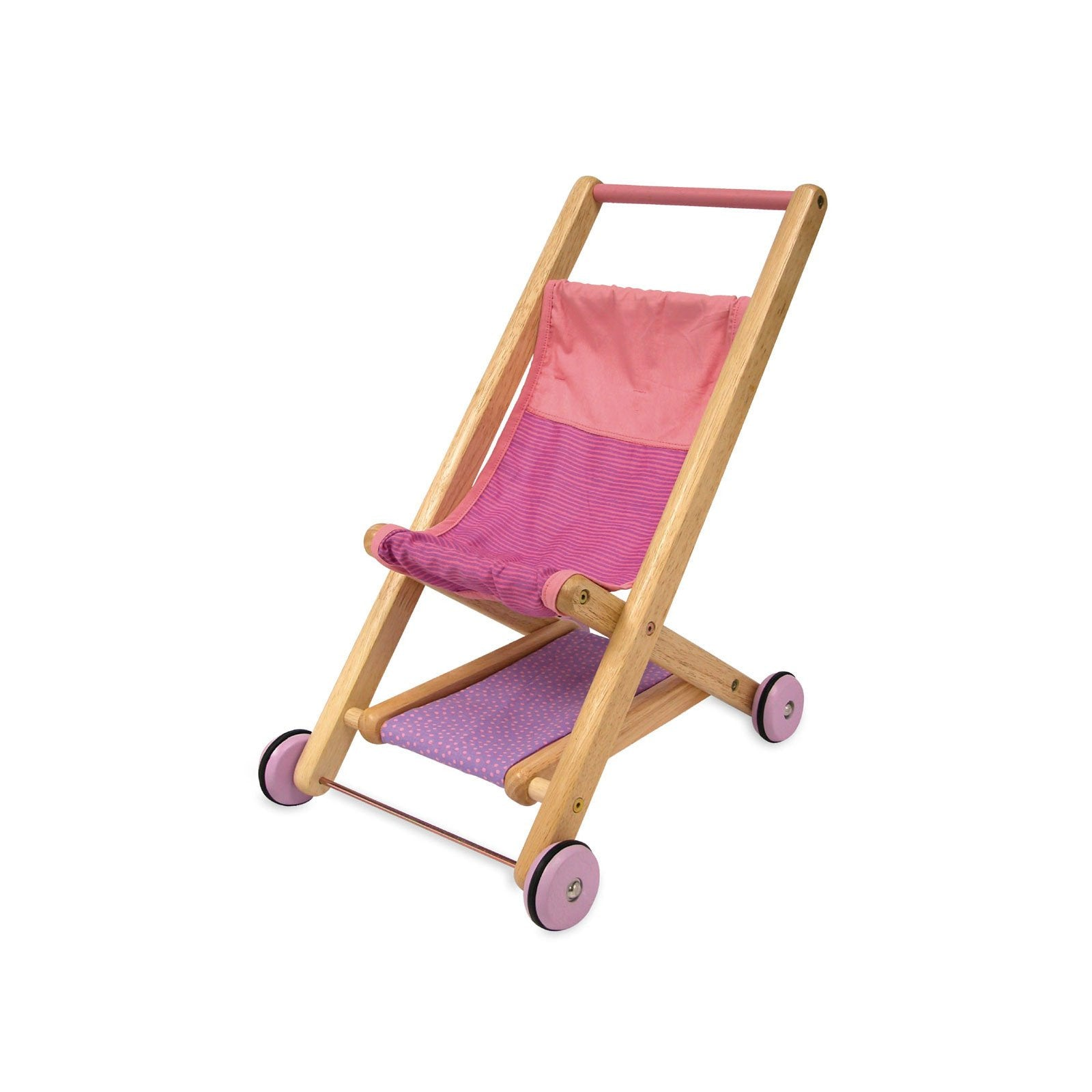 Wooden Doll Stroller from I'm Toy Im Toy Pretend Play at Little Earth Nest Eco Shop