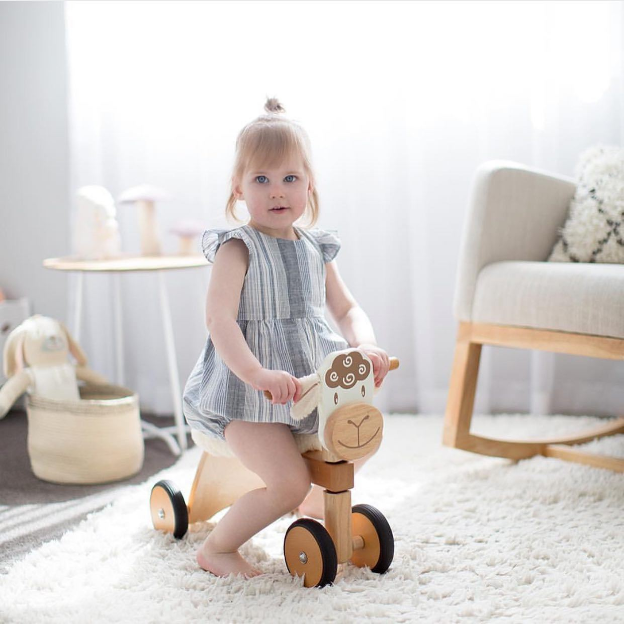 Lambie Padding Rider Ride-On Lamb Im Toy Kids Riding Vehicles at Little Earth Nest Eco Shop