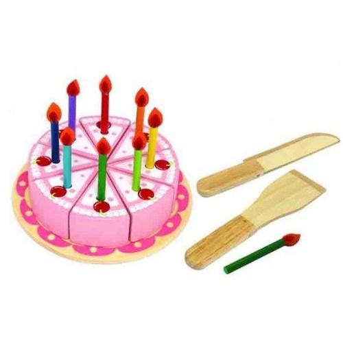 I'm Toy Wooden Party Cake Set Im Toy Pretend Play at Little Earth Nest Eco Shop