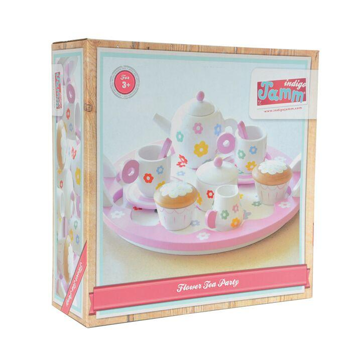Indigo Jamm Flowers Tea Set Indigo Jamm Pretend Play at Little Earth Nest Eco Shop