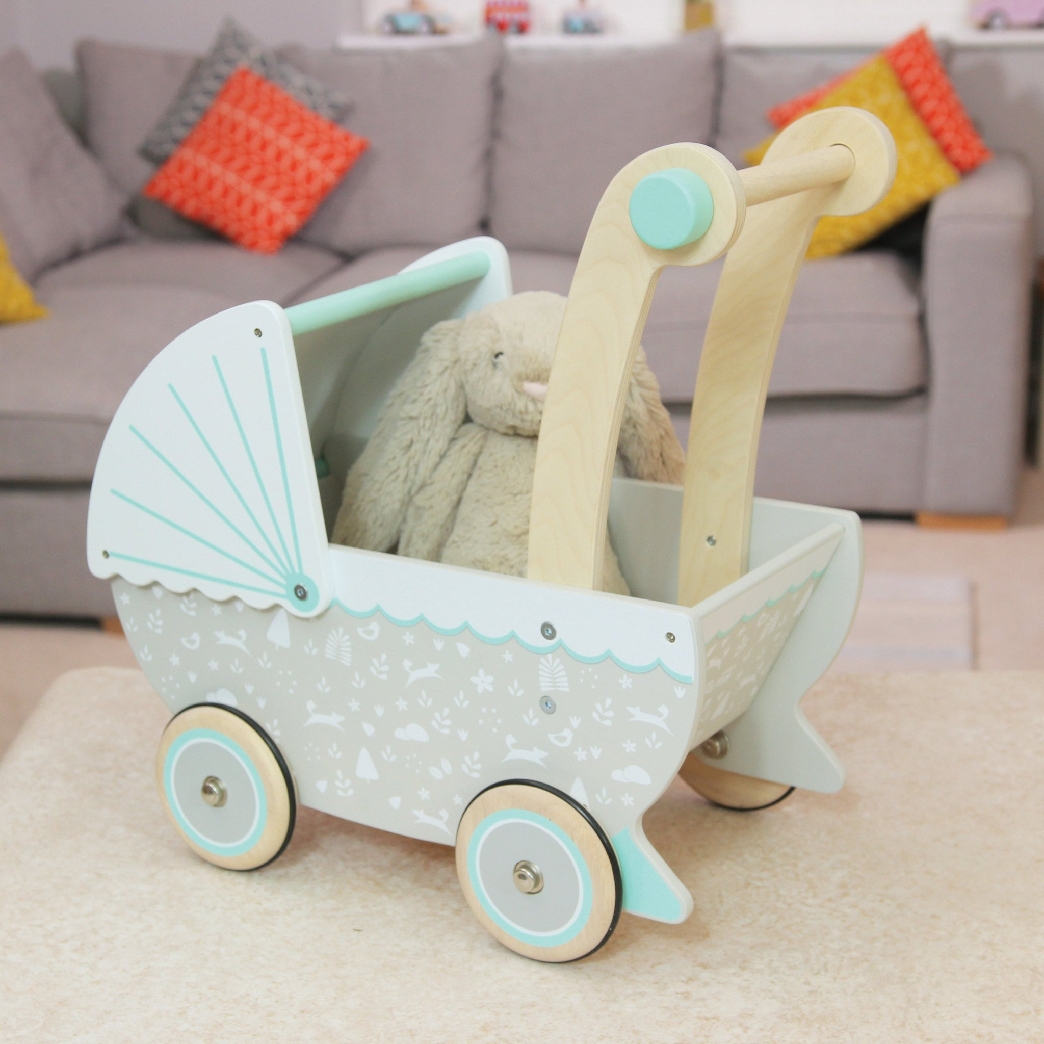 Indigo Jamm Petworth Dolls Pram Indigo Jamm Pretend Play at Little Earth Nest Eco Shop
