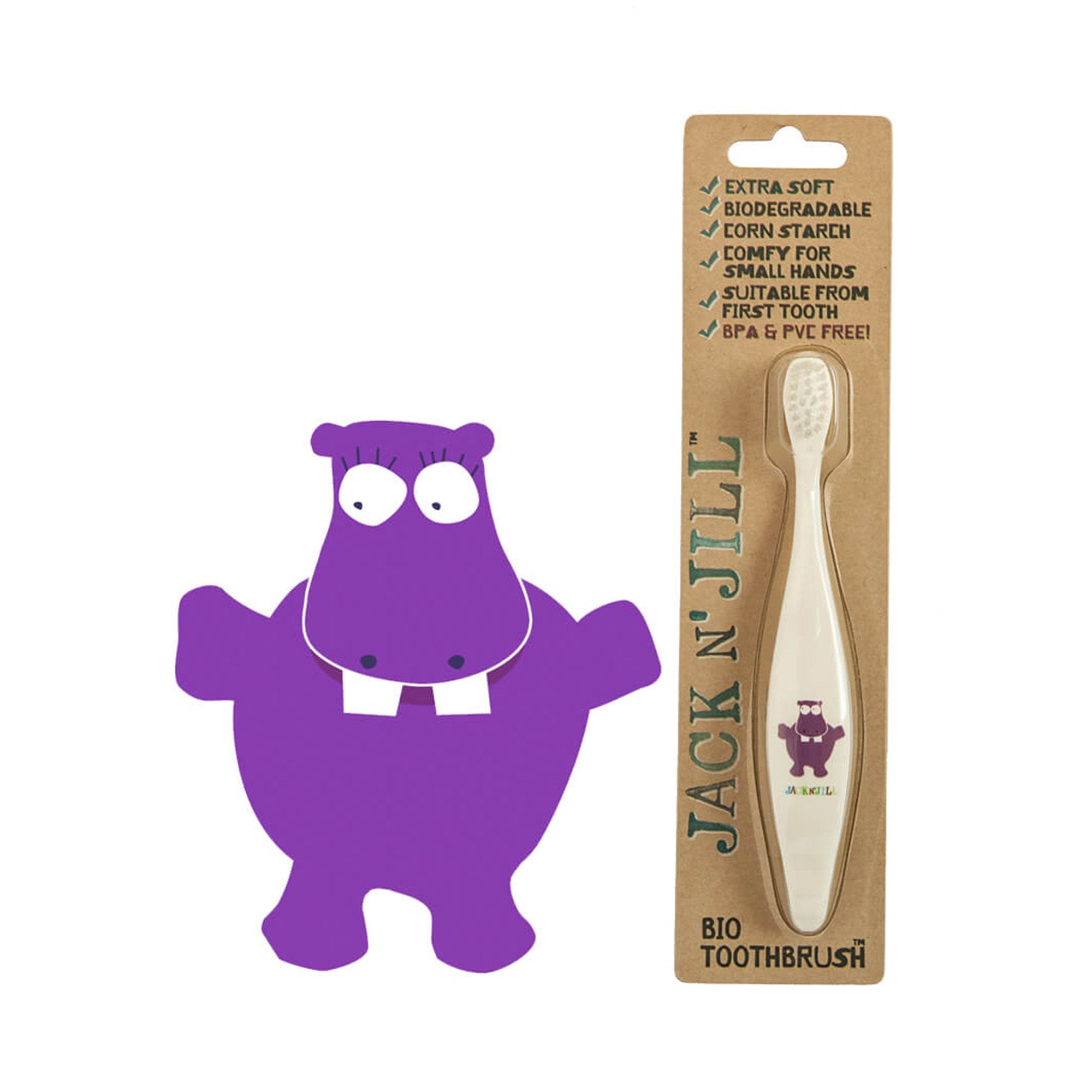 Jack and Jill Bio Toddler or Child Toothbrush   - Jack n Jill - Little Earth Nest - 2