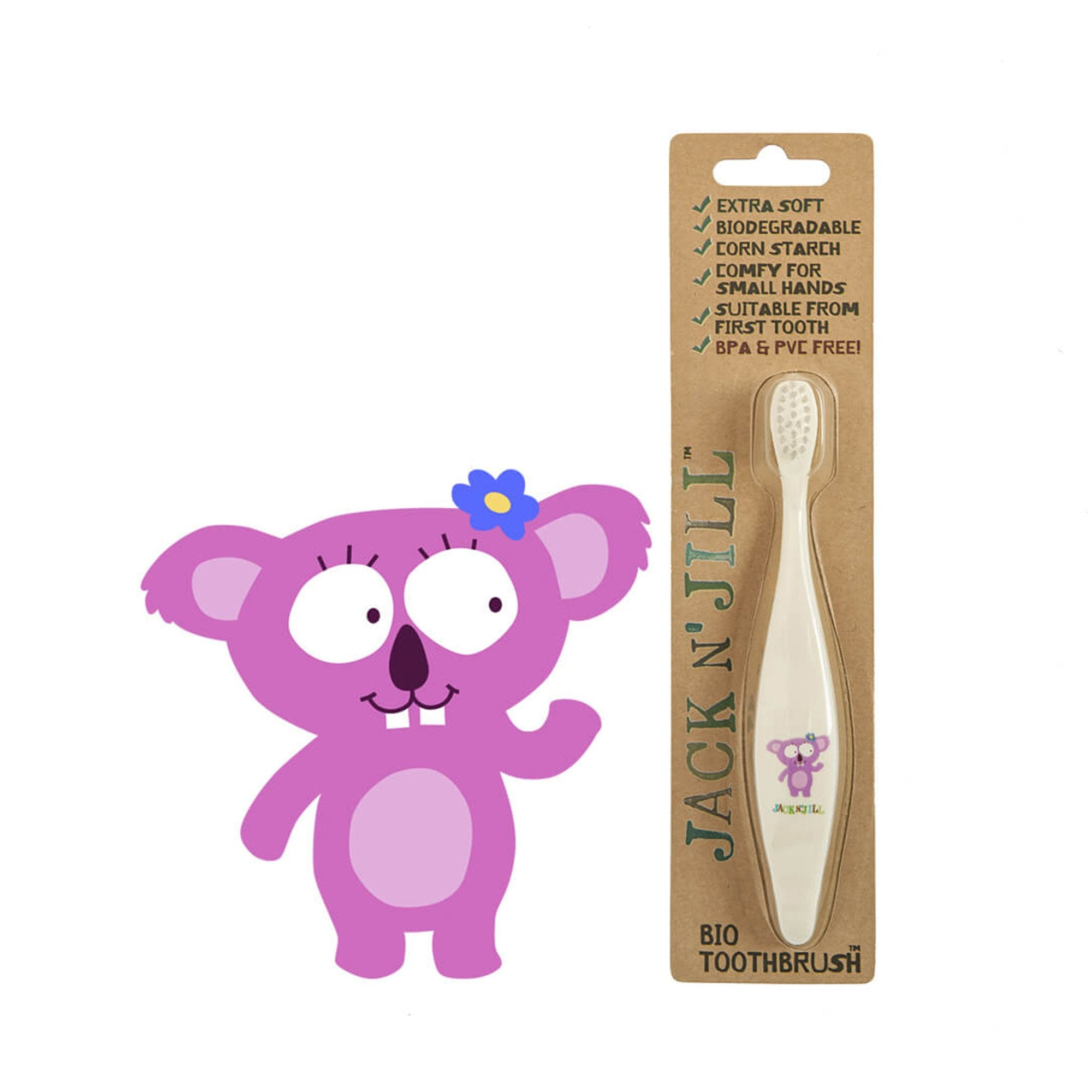 Jack and Jill Bio Toddler or Child Toothbrush   - Jack n Jill - Little Earth Nest - 3