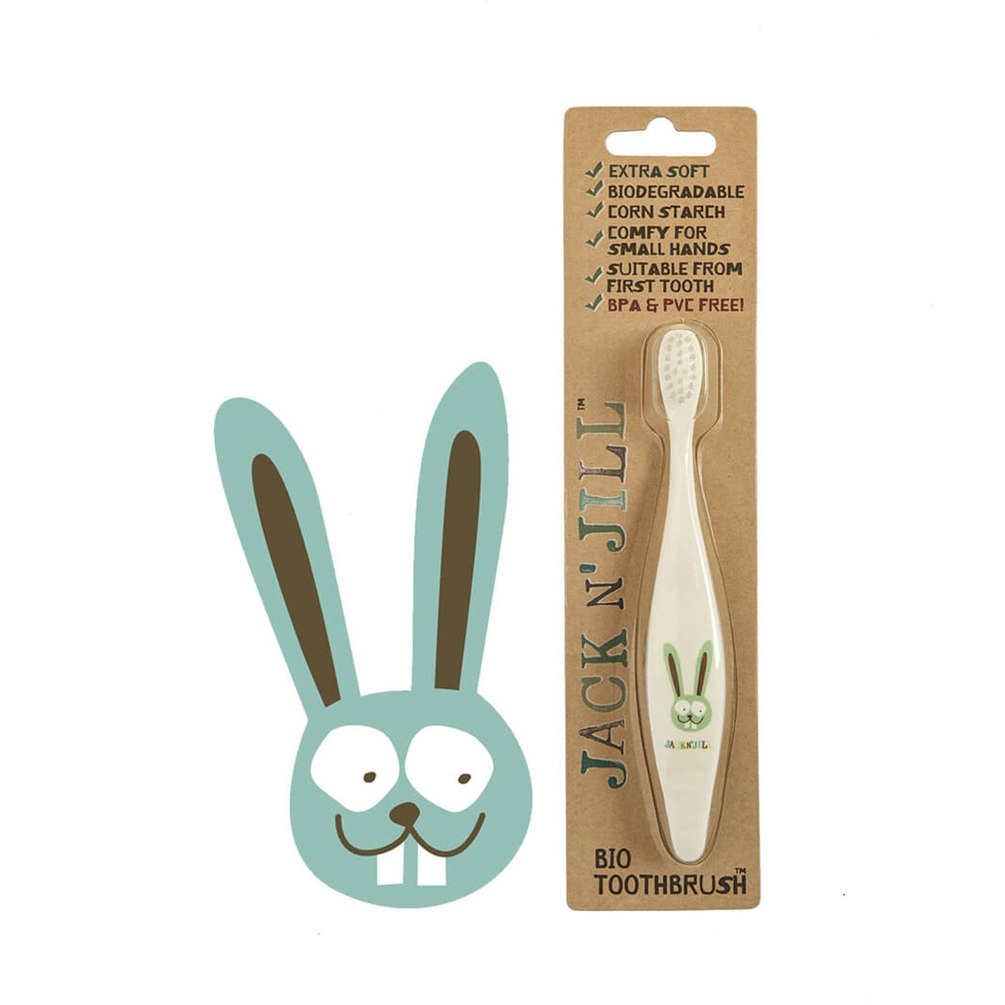 Jack and Jill Bio Toddler or Child Toothbrush   - Jack n Jill - Little Earth Nest - 4