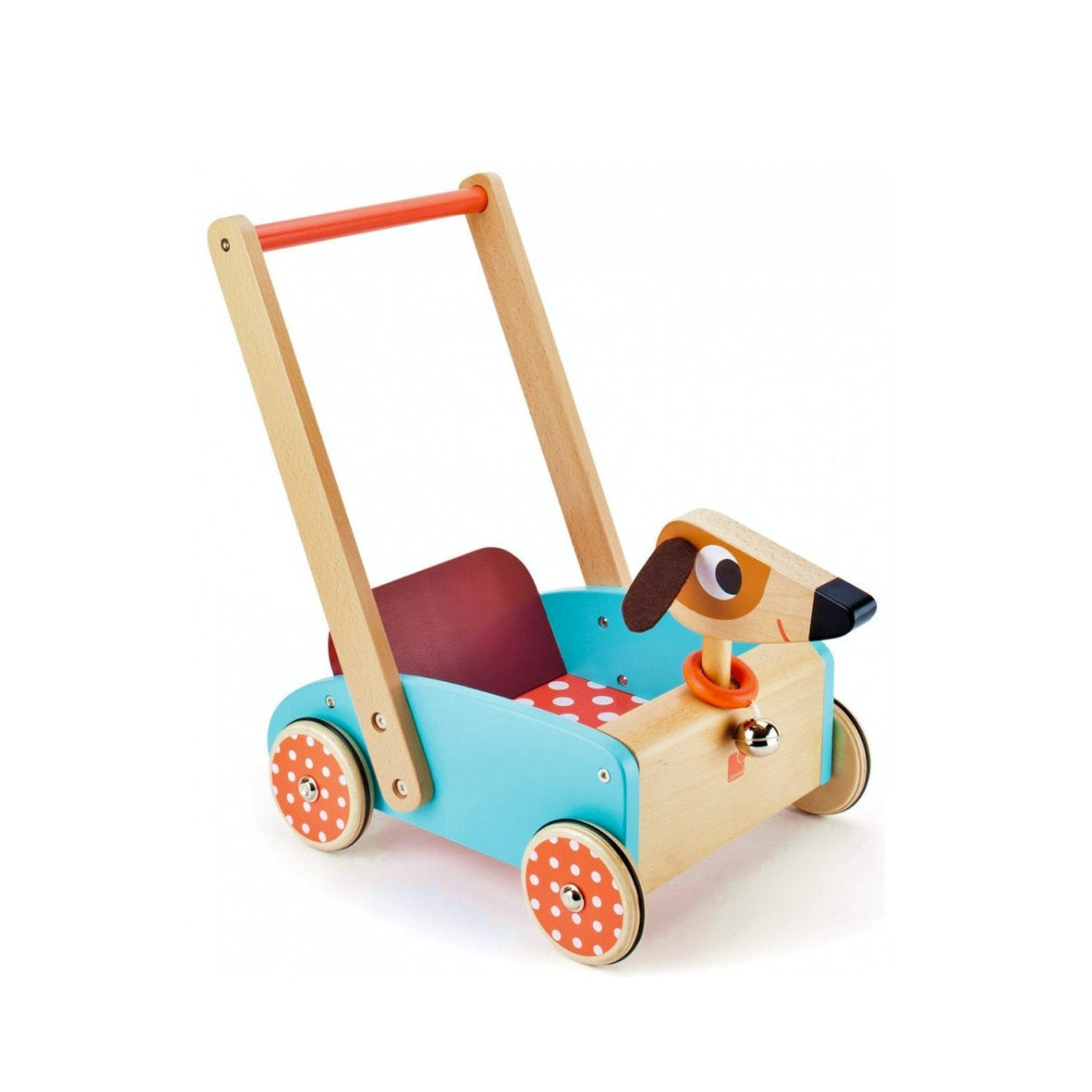 Janod Crazy Dog Cart Baby Walker Little Earth Nest