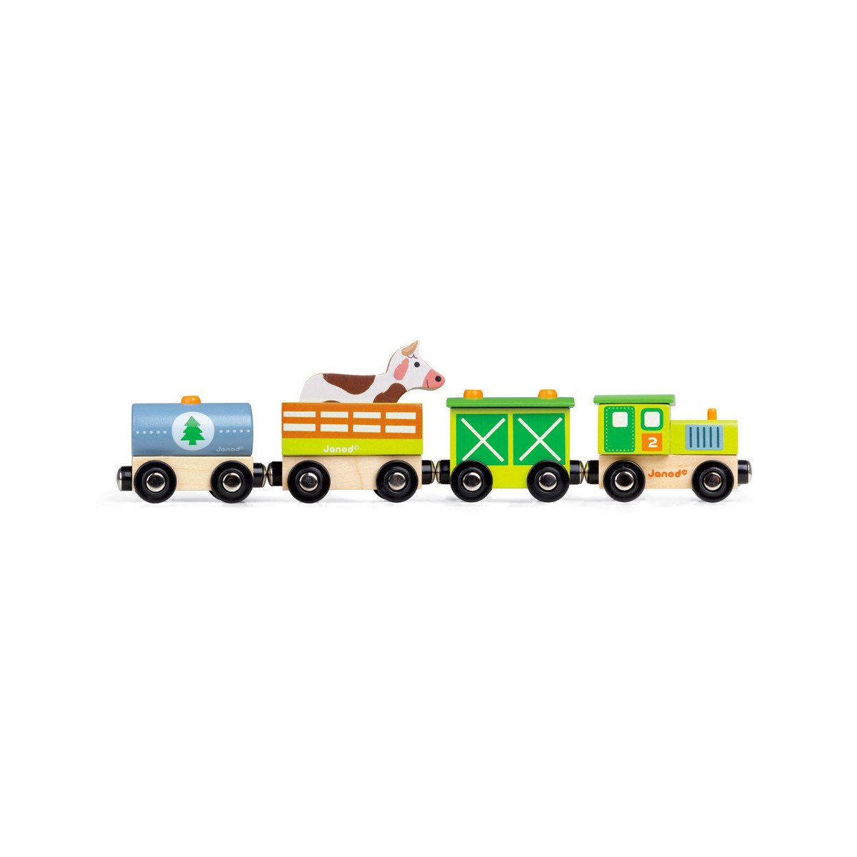 Janod Farm Train Janod Activity Toys at Little Earth Nest Eco Shop