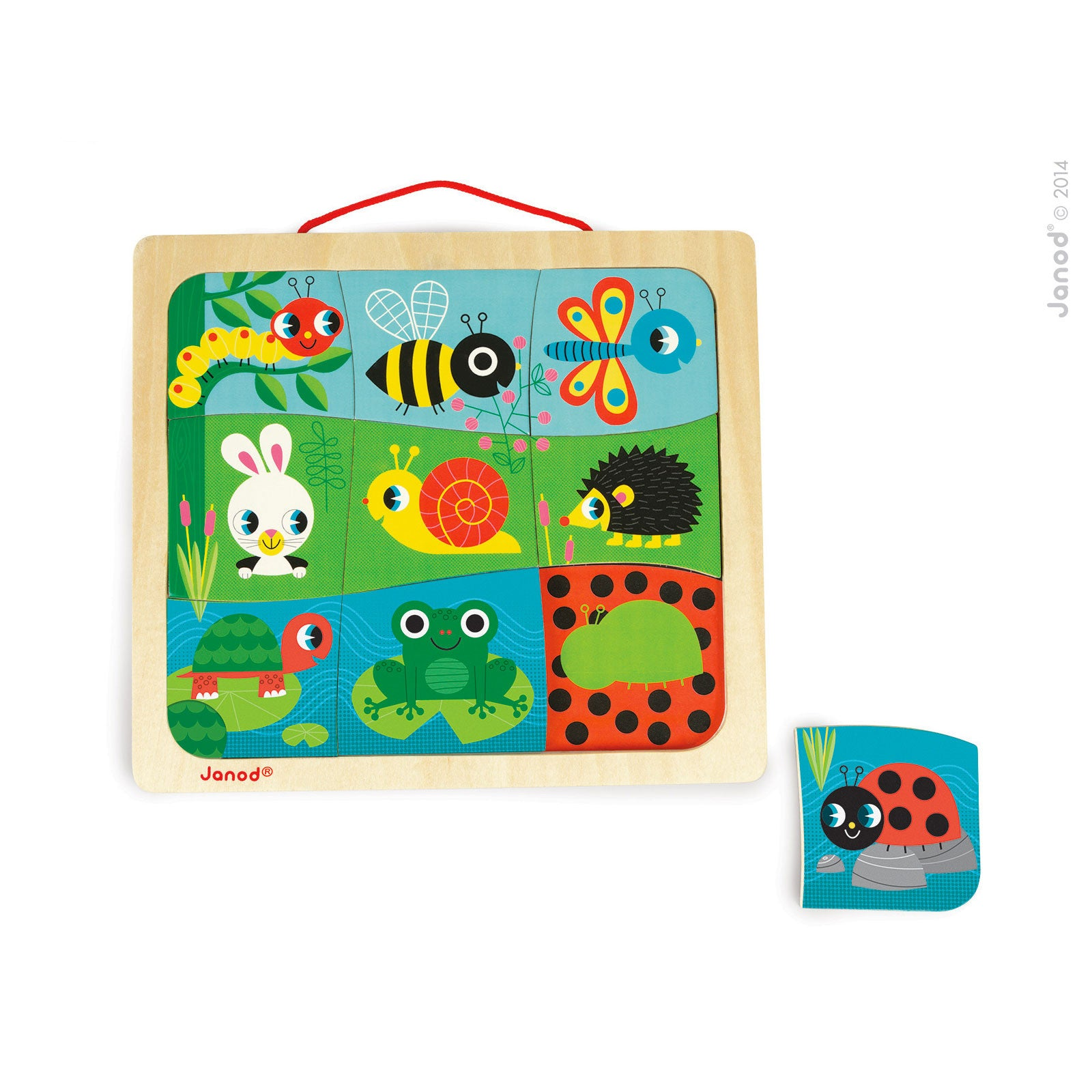 Janod Happy Garden Magnetic Puzzle Janod Puzzles at Little Earth Nest Eco Shop