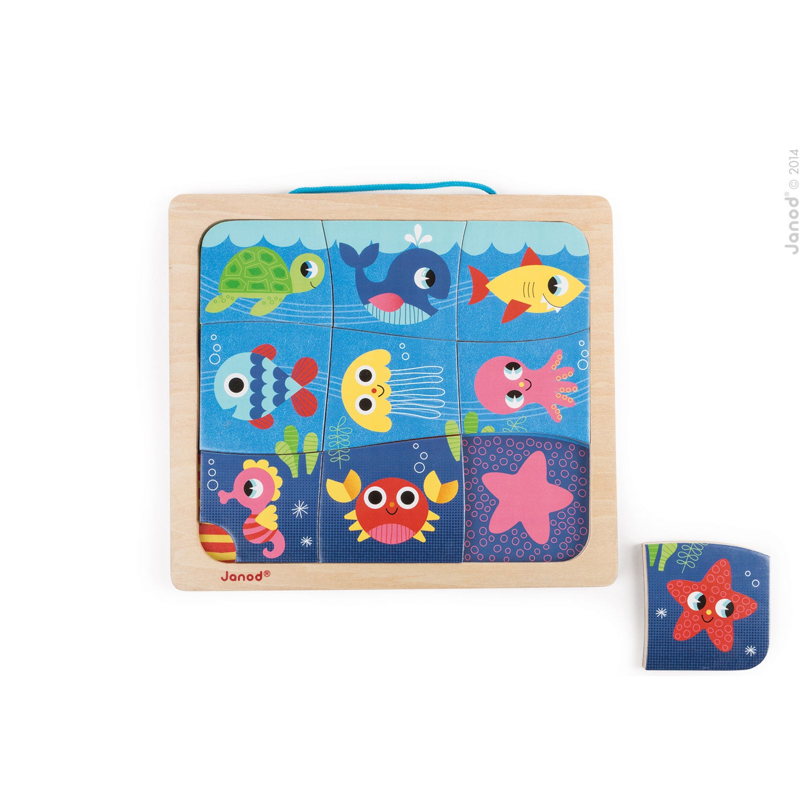 Janod Happy Fish Magnetic Puzzle Janod Puzzles at Little Earth Nest Eco Shop