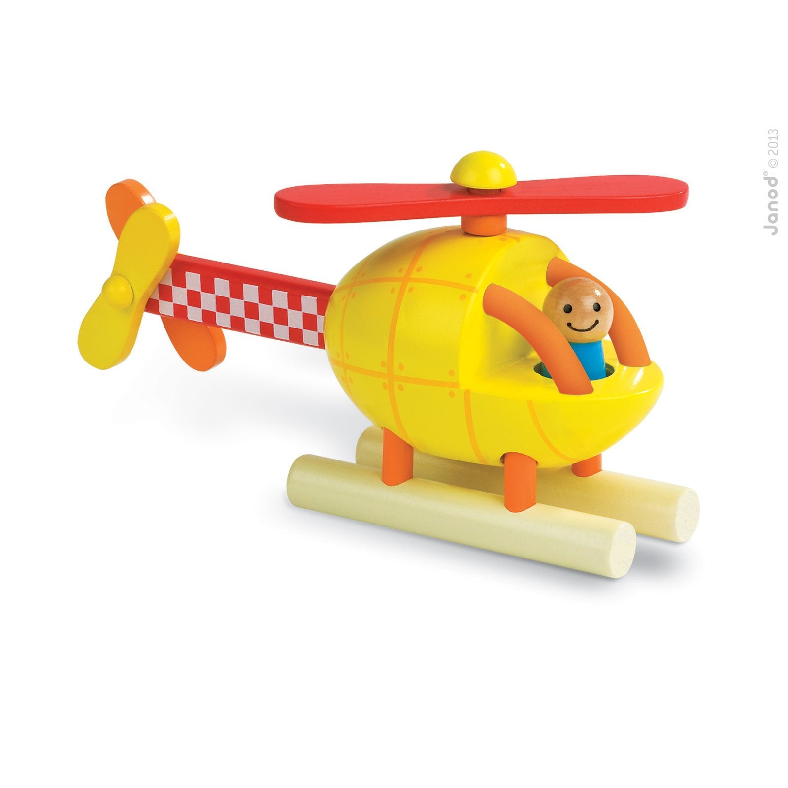 Janod Magnetic Helicopter Toy Janod Magnet Toys at Little Earth Nest Eco Shop