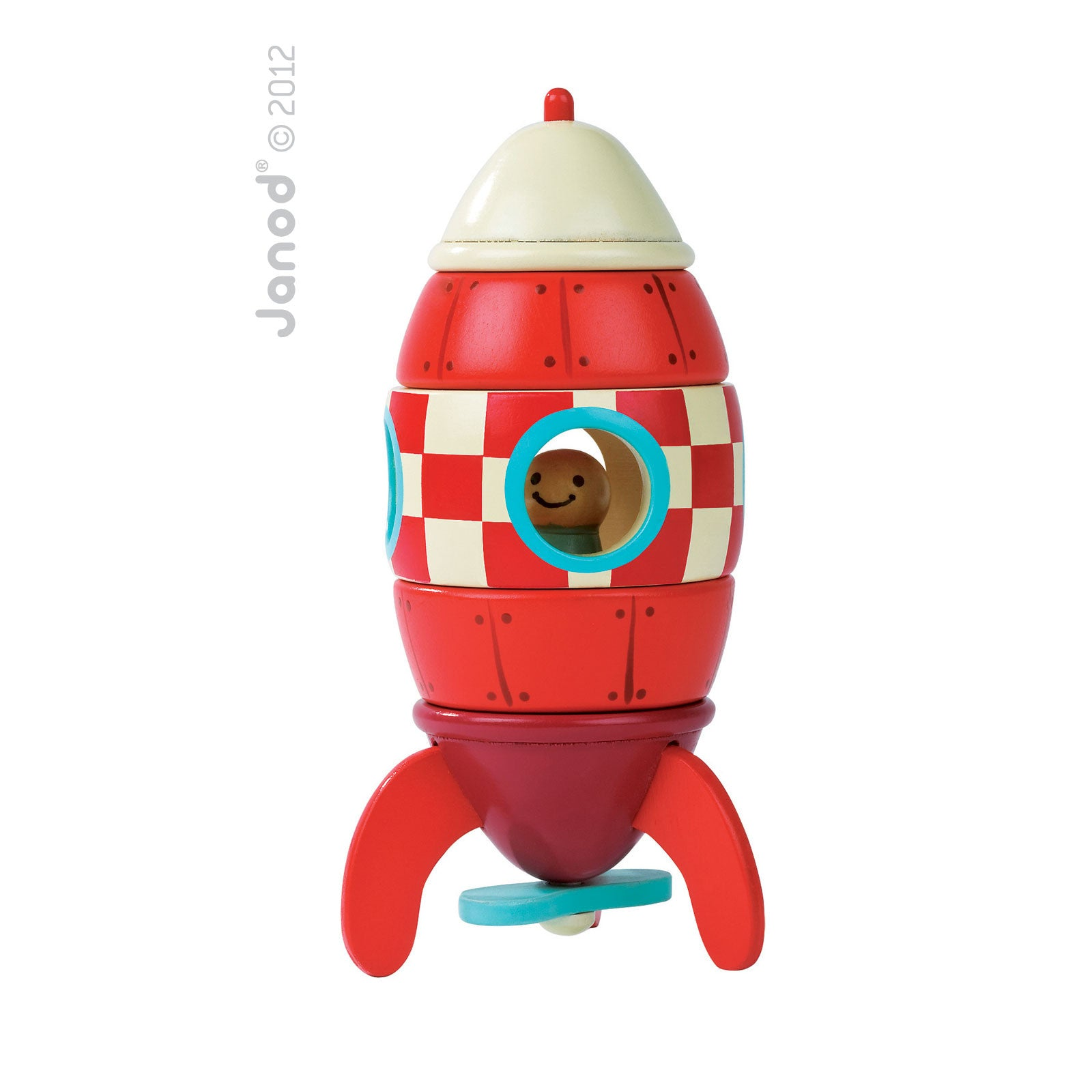 Janod Magnetic Rocket Toy Janod Magnet Toys at Little Earth Nest Eco Shop