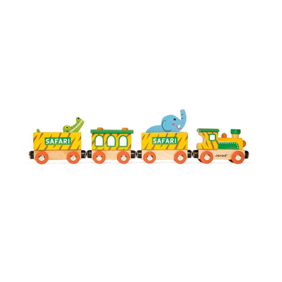 Janod Safari Train Janod Activity Toys at Little Earth Nest Eco Shop