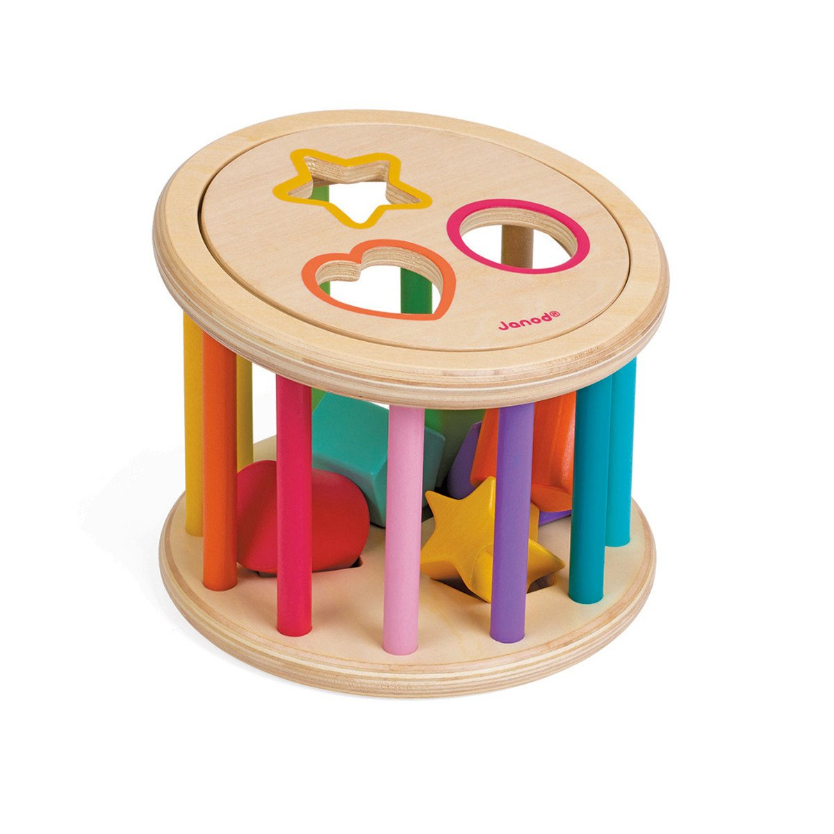 Janod Rainbow Shape Sorter Janod Activity Toys at Little Earth Nest Eco Shop