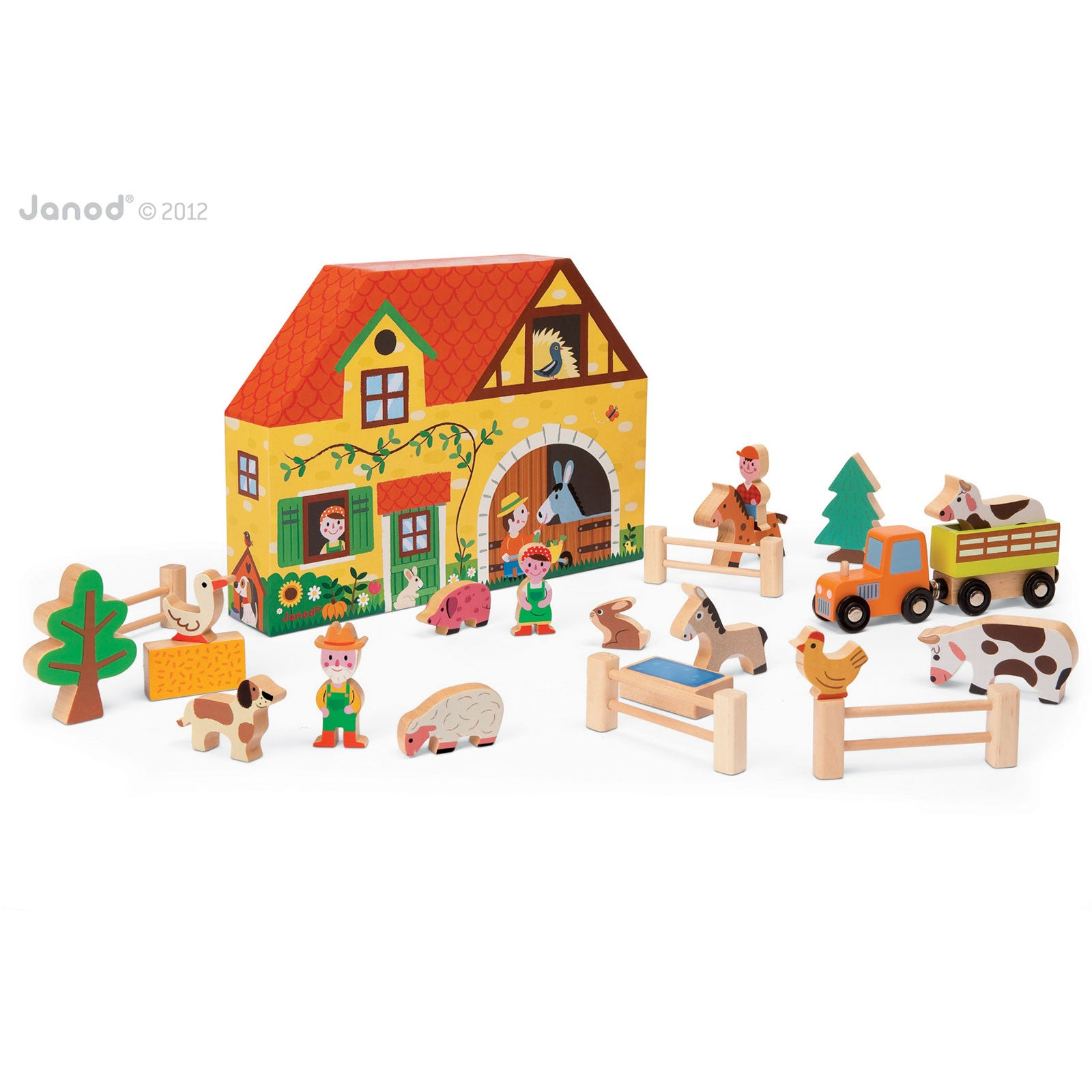 Janod Story Box Farm Janod Activity Toys at Little Earth Nest Eco Shop