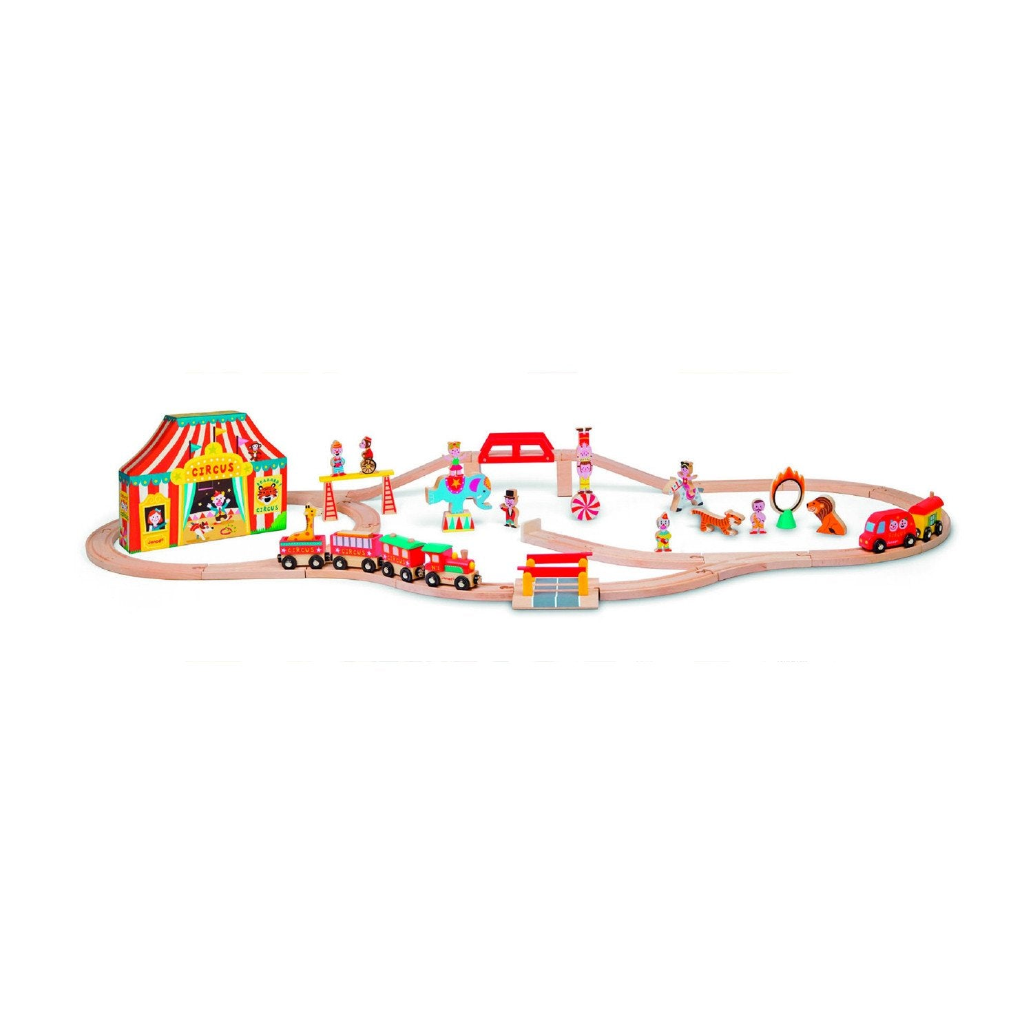 Janod Story Express Circus Train Set Janod Activity Toys at Little Earth Nest Eco Shop