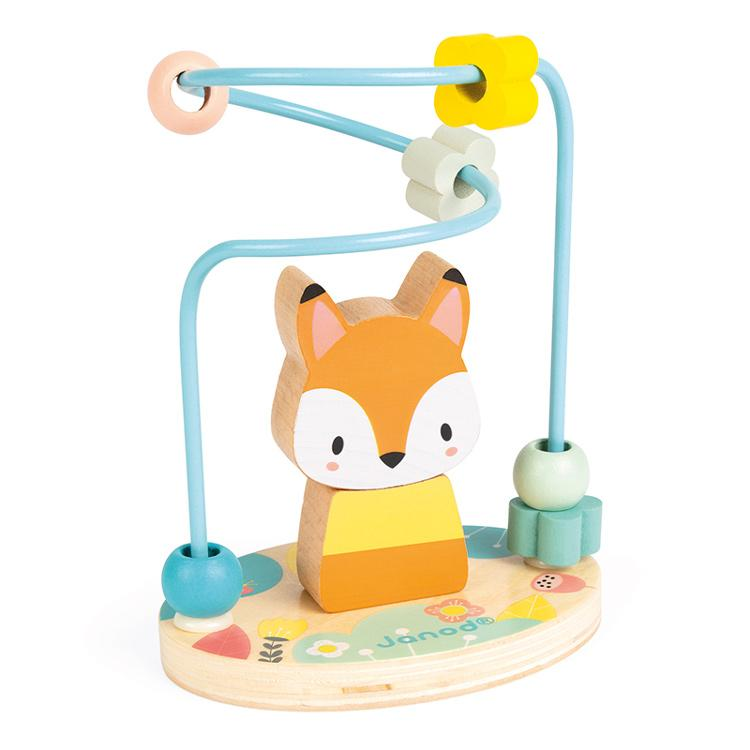 Janod Wooden Fox Bead Maze Janod Wooden Toys at Little Earth Nest Eco Shop
