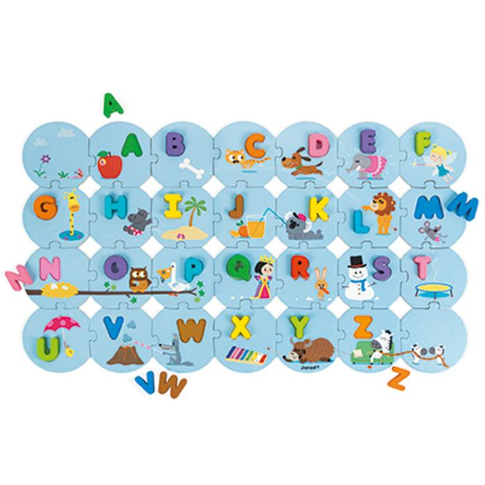 Janod Learn The Alphabet Puzzle Janod General at Little Earth Nest Eco Shop