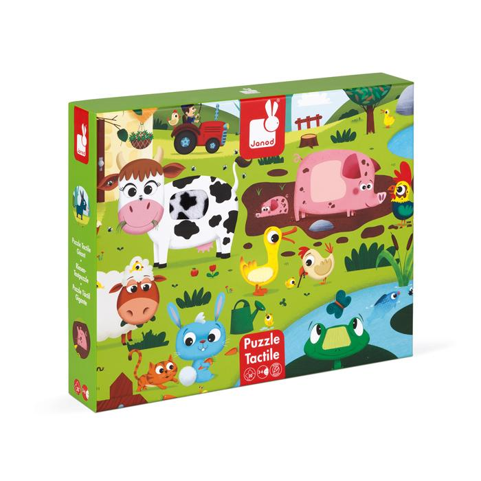 Janod Touch and Feel Puzzle Janod Puzzles at Little Earth Nest Eco Shop