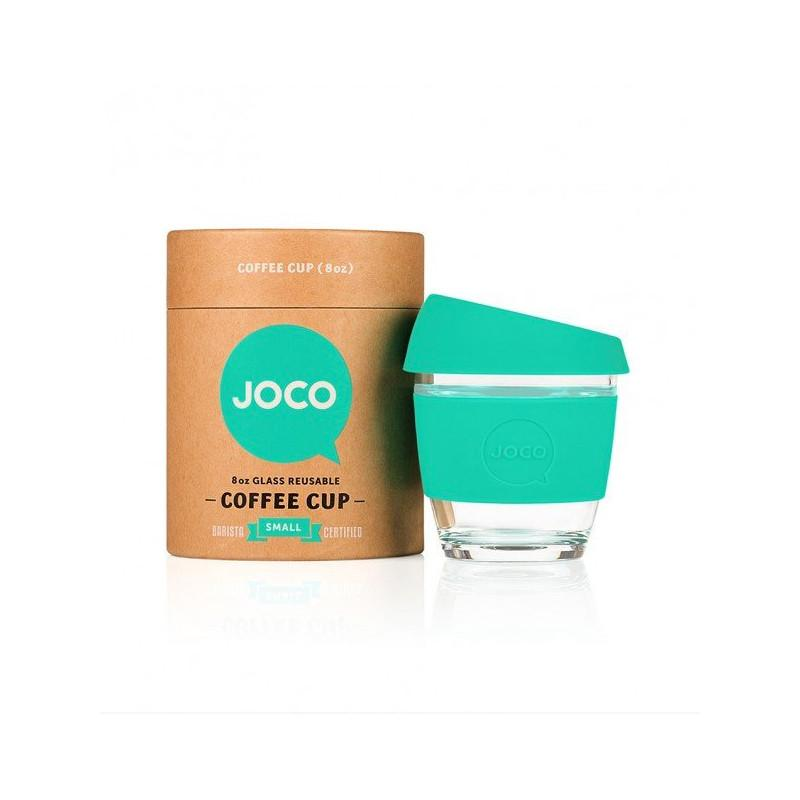 Joco Reusable Glass Cup 8oz Joco Coffee & Tea Cups Mint at Little Earth Nest Eco Shop